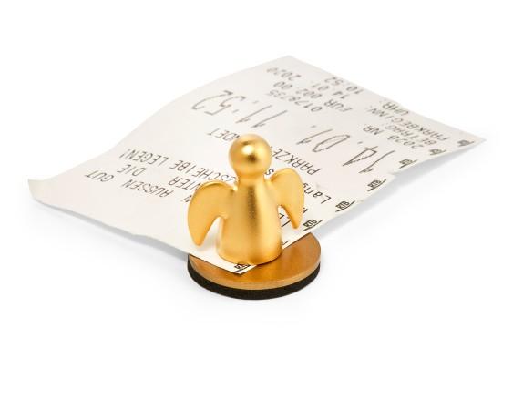 ANGELO magnet ticket holder, gold
