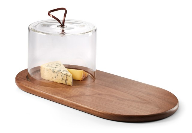 WALNUT cheese board with glass cover from our new WALLNUT collection