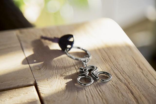 BIKER keyring pendant