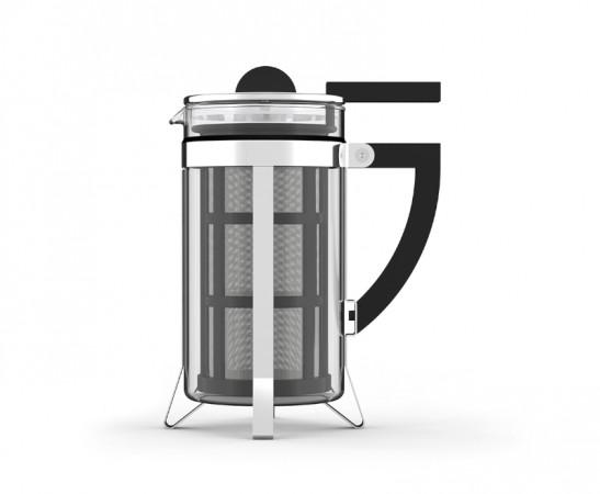LASZLO French Pull Kaffeebereiter im Bauhaus Stil aus Borosilikatglas