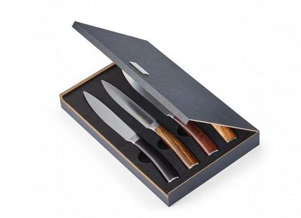 GARRY Steakmesserset mit Echholzgriff in hochwertiger Geschenkbox