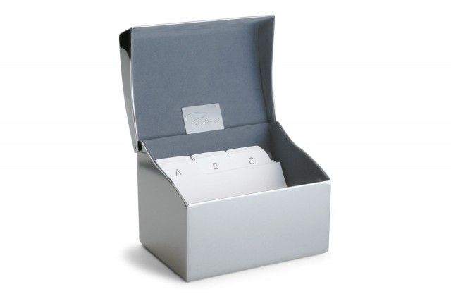 CLIP business card box with index