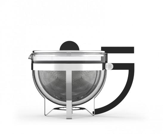 MARIANNE Teekanne im Bauhaus Stil aus Borosilikatglas