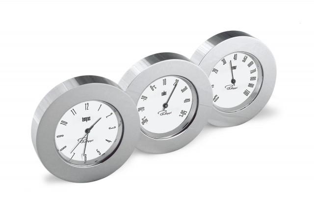 TRIO Wetterstation mit Uhr